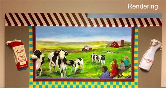 Fairview Dairy Mural Rendering