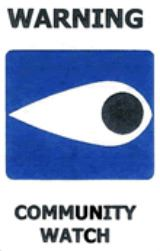 Warning: Community Watch logo
