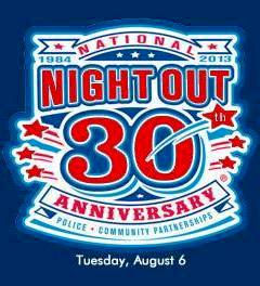 National Night Out 30th Anniversary logo