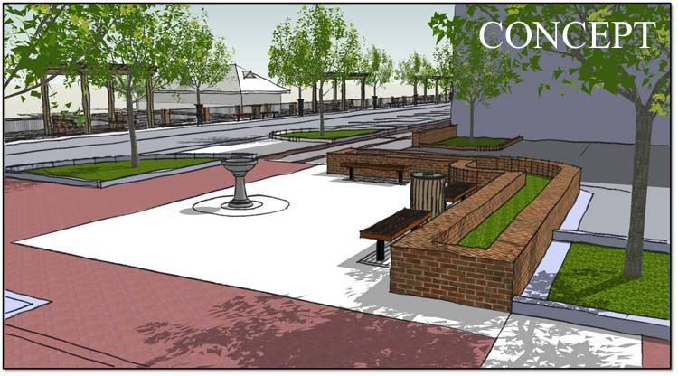 Drawing of the proposed Moore and Carthage Streets Bond project